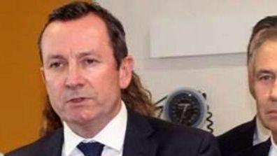 WA Premier Mark McGowan rocks a mullet that would put Bon Jovi to shame.