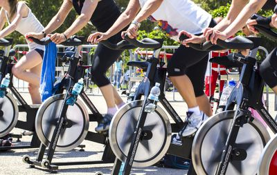 <strong>Answer: A spin class</strong>