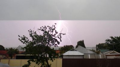 Chester Hill lightning. (Robbie Iskandar)