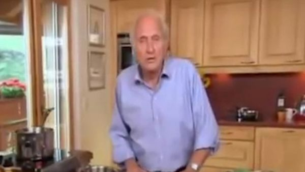 Chef Michel Roux makes salmon
