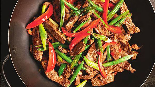 Beef and lemongrass stir-fry