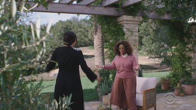 Meghan and Oprah greet