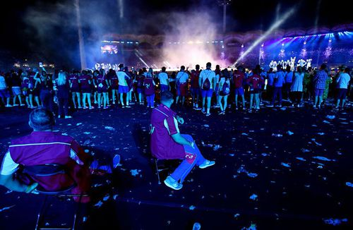 The Commonwealth Games closing ceremony was slammed by pundits and punters alike. (AAP)