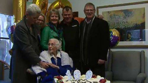 Sister Angela with her family. (9NEWS)
