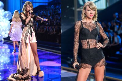 What does almost <I>every</I> girl do after a messy split (aside from stalking their ex on Facebook)? They chop all their hair off. <br/><br/>Which is what Tay did, before stripping off for a very saucy performance at the Victoria's Secret show... with Harry seated in the front row. <br/><br/>Taylor - 1, Harry - 0.