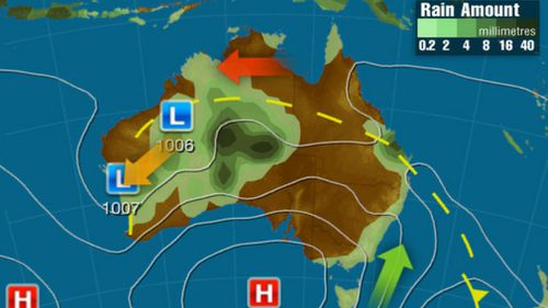 Tuesday: A broad trough across northern Australia looks to cause showers and storms, potentially heavy in eastern parts of WA and SA's northern region. Cool onshore winds may produce light showers in TAS, VIC and eastern NSW. (Weatherzone)