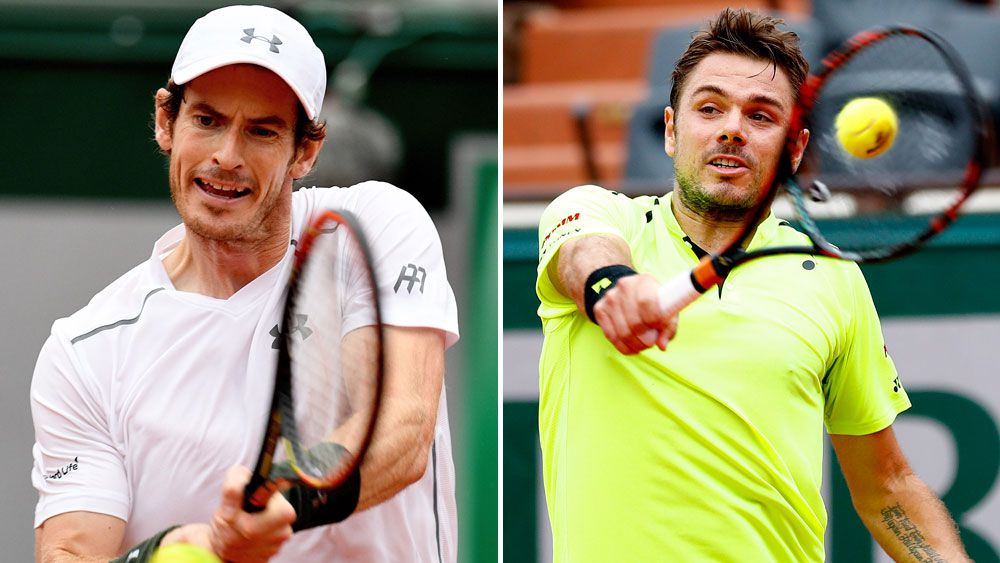 Andy Murray and Stan Wawrinka. (AAP)
