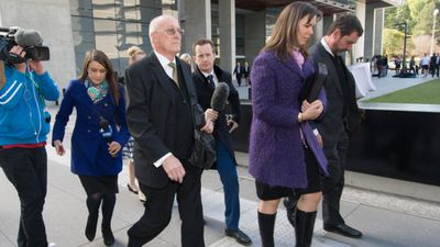 <p>August 7, 2015: Gerard appeals his murder conviction. </p> <p>Here, his father and sister leave court after the appeal.</p>