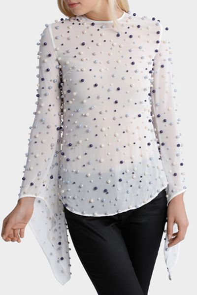 """<p>Sea and be seen</p> <p>Asilio pearl top, $389.95 at <strong><a href=""""https://www.myer.com.au/shop/mystore/let-me-love-you-top-520701310"""" target=""""_blank"""" draggable=""""false"""">Myer</a></strong></p>"""