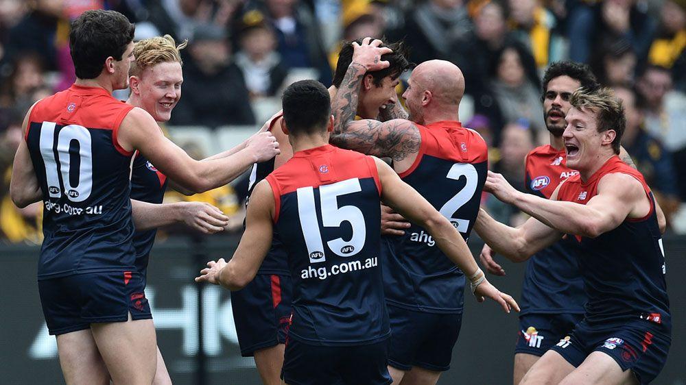 Demons beat Hawks in AFL boilover