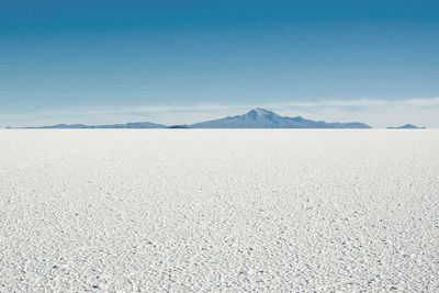Salt plains of Lake Gairdner, South Australia
