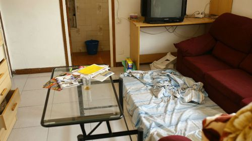 Inside the apartment connected to the Barcelona attack. (AP)