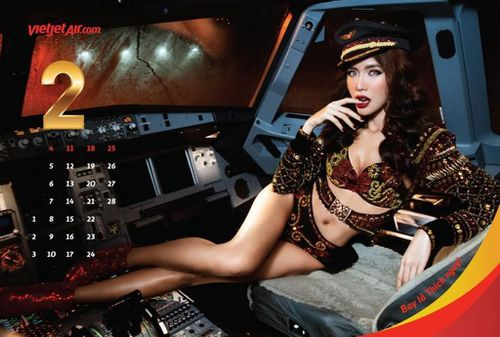 Models seductively appear in scenarios flight crew would not generally find themselves. (VietJet)