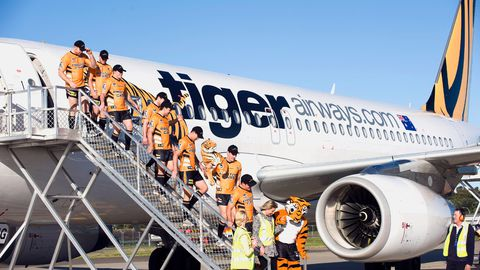 Wests Tigers plane
