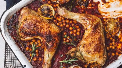 "Recipe: <a href=""http://kitchen.nine.com.au/2018/02/15/15/47/chicken-mediterraneo-recipe"" target=""_top"" draggable=""false"">Chicken mediterraneo</a>"