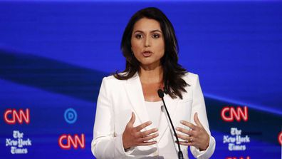 Tulsi Gabbard brought up how she has been labelled a 'Russian asset' and an 'Assad apologist'.