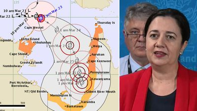 Cyclone Nora set to hit Queensland as a category four storm