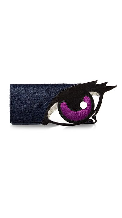 "<p><a href=""https://www.modaoperandi.com/pierre-hardy-pf15/oh-roy-eye-pouch"" target=""_blank"">Oh Roy Eye Pouch, $899, Pierre Hardy at modaoperandi.com</a></p>"
