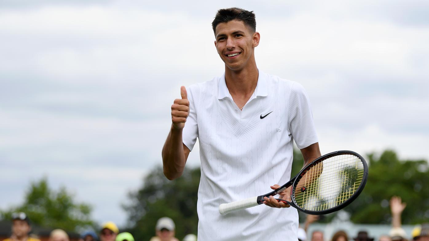 Alexei Popyrin powers into Wimbledon second round with four straight aces