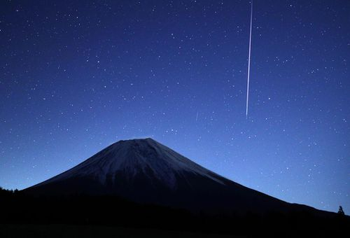 The falling stars were actually just small rocks that have broken off from the asteroid before burning up in the Earth's atmosphere.