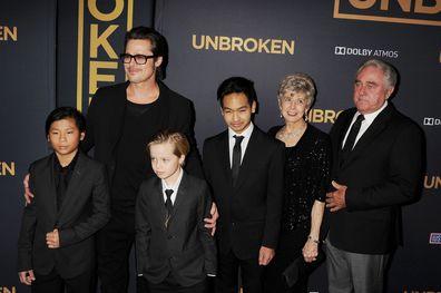Brad Pitt, Maddox Jolie-Pitt, Pax Jolie-Pitt, Shiloh Jolie-Pitt, Jane Pitt and William Pitt