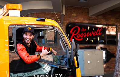 Monkey Shoulder cocktail mixer truck at The Roosevelt in Sydney's Potts Point