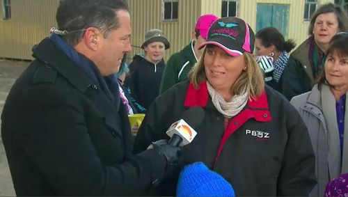 Ms Taylor said the farm was having a major impact on many people's lives. Picture: 9NEWS