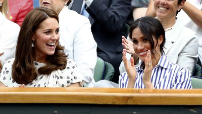 Kate and Meghan at the Wimbledon 2018 final