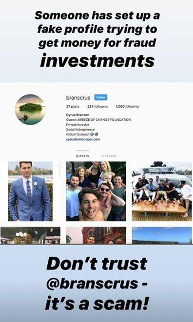 Matty J, victim, identity theft, screenshots, Instagram