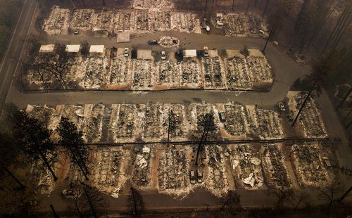 The blaze that started November 8 largely destroyed the town of Paradise, population 27,000, and heavily damaged the nearby communities of Magalia and Concow.