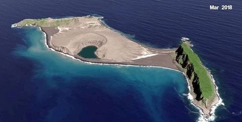 The island as it appeared last year. Picture: NASA Scientific Visualisation Studio