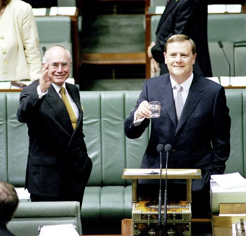 John Howard and his treasurer Peter Costello made changes to the dividend system in 2000. (AAP)