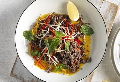"Recipe: <a href=""http://kitchen.nine.com.au/2016/05/05/09/53/crispy-vietnamese-beef-mince-pancake"" target=""_top"">Crispy Vietnamese beef mince pancake</a>"