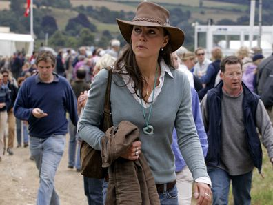 Kate Middleton attends the Festival of British Eventing, 2005