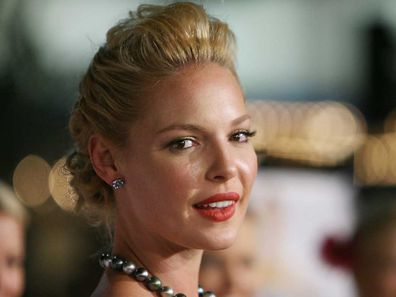 Katherine Heigl on the red carpet for 27 Dresses.