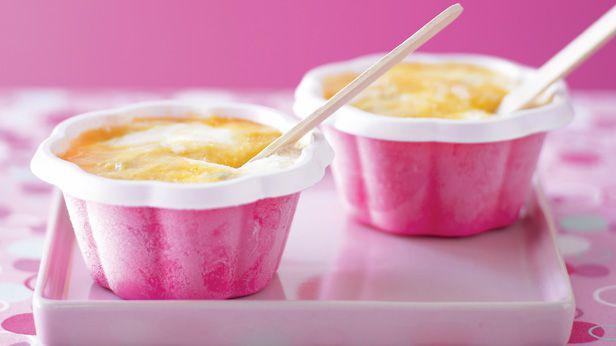 Mango and passionfruit frozen yogurt