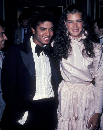 Brooke Shields with Michael Jackson at the Academy Awards, 1981.