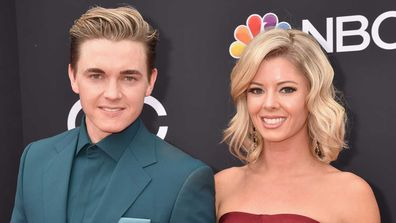 Jesse McCartney and Katie Peterson in 2018.