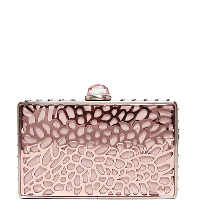 "<a href=""https://www.mimco.com.au/shop/bags/clutch-and-evening-bags/60202726-9570/Petal-Parade-Hardcase.html"" target=""_blank"">Mimco</a> petal hardcase clutch, $199"