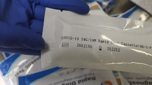 DIY home COVID-19 test kits are being seized by the Australian Border Force after being imported from China.