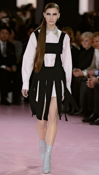 Overalls would get a high-fashion spin thanks to Dior.