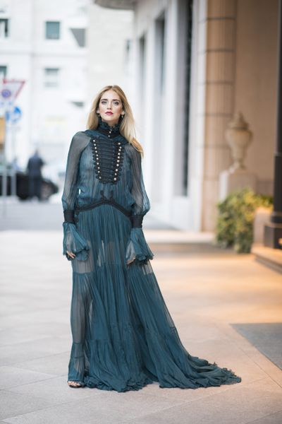 Chiara Ferragni in Roberto Cavalli, Milan Fashion Week