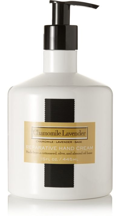 "<a href=""http://www.net-a-porter.com/au/en/product/487706"">Chamomile Lavender Reparative Hand Cream, $35.86, LAFCO House and Home</a>"