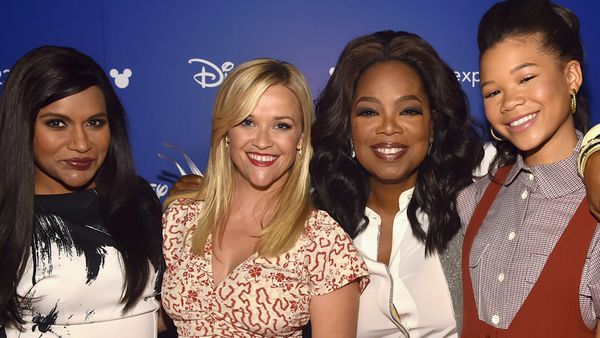 Mindy Kaling, Reese Witherspoon, Oprah Winfrey, and Storm Reid at the Walt Disney Studios Live Action Presentation in Los Angeles in July, 2017