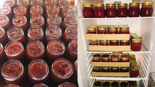 Brooke Nugent, owner of the small catering company Feed Your Tribe, has been inundated with requests for her homemade strawberry jam after a Facebook post went viral.
