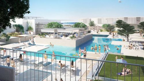 Rottnest pub's new poolside bar area is expected to look like this. (Supplied)