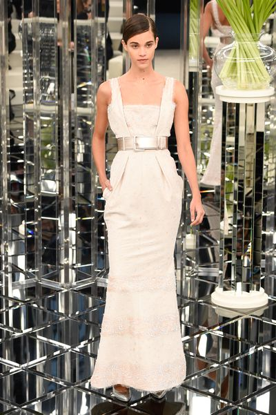 Pauline Hoarau for Chanel Haute Couture Spring 2017. Elegant and flattering silhouettes with neat waists.
