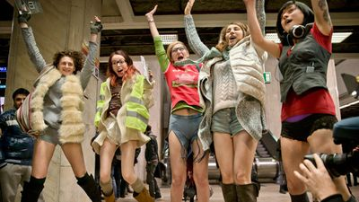 <p>Public transport users in Europe, the United States and Mexico have once again embraced the annual 'No Pants Subway Ride'.</p> <p>Train passengers worldwide cast aside their modesty yesterday and showed off their brightest and most outrageous undergarments. </p> <p>Check out some of the best photos from the 2015 No Pants Subway Ride. </p>