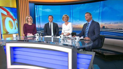 This morning's TODAY Show line-up. (9NEWS)