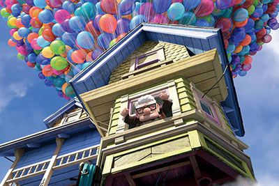 One of Disney-Pixar's best computer-animated movies ever is actually a rather bittersweet tale, starting off with the tragic death of old man Carl's life-long love Ellie. That gives him the impetus to fulfil his promise to her that they'll get to Paradise Falls … so he brings the house along by helium balloons! It's charming as hell, but that opening sequence is a total blubber-fest.